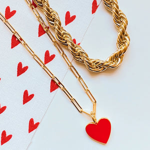 Presley Heart Necklace (Gold-Filled)