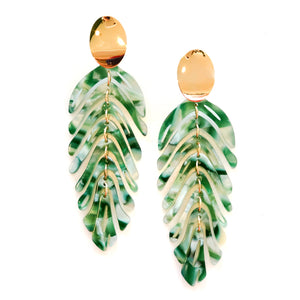 Avery Leaf Statement Earrings