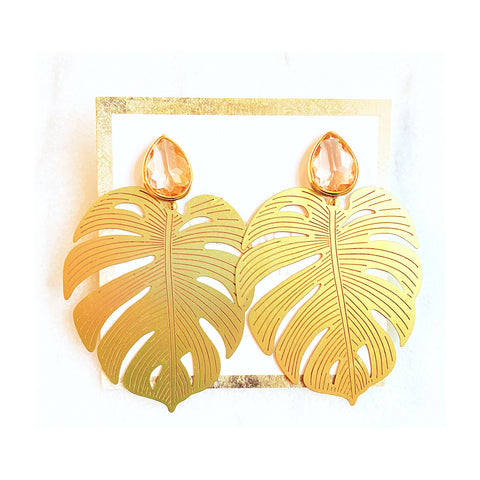 Margo Peach Leaf Earrings
