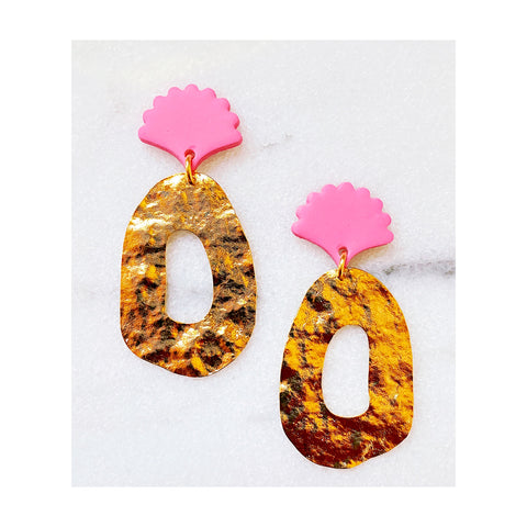 Eve Blush Shell Statement Earrings