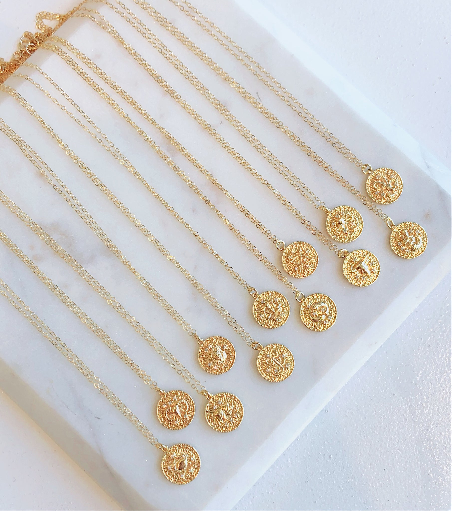 Jordan Gold Filled Zodiac Coin Pendant