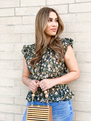 Giselle Smocked Waist Floral Top
