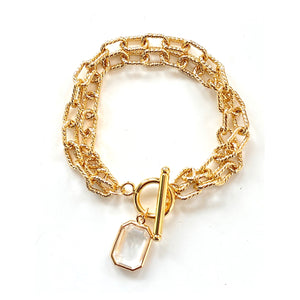 Charlotte Double Rope Chain Bracelet