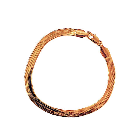 Margo Herringbone Bracelet (Gold-Filled)