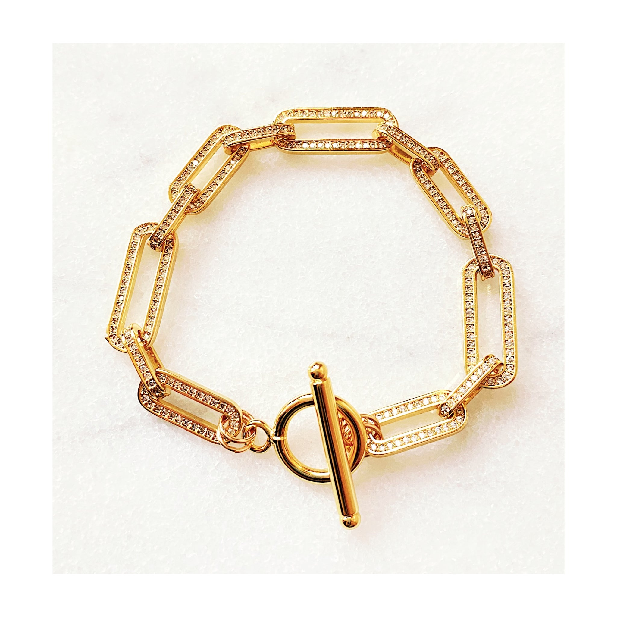Elizabeth Gold Filled Pave Bracelet