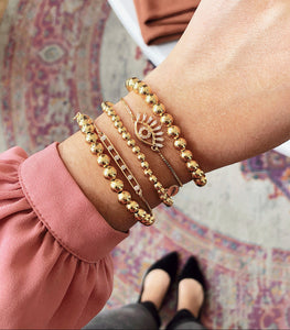 Bella Gold Beaded Bracelet Set