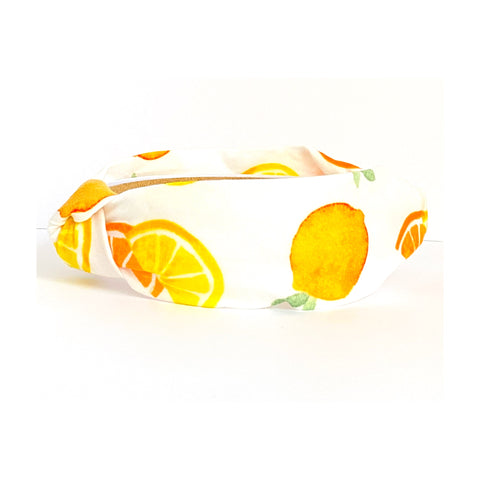 Orange and Lemon Print Headband