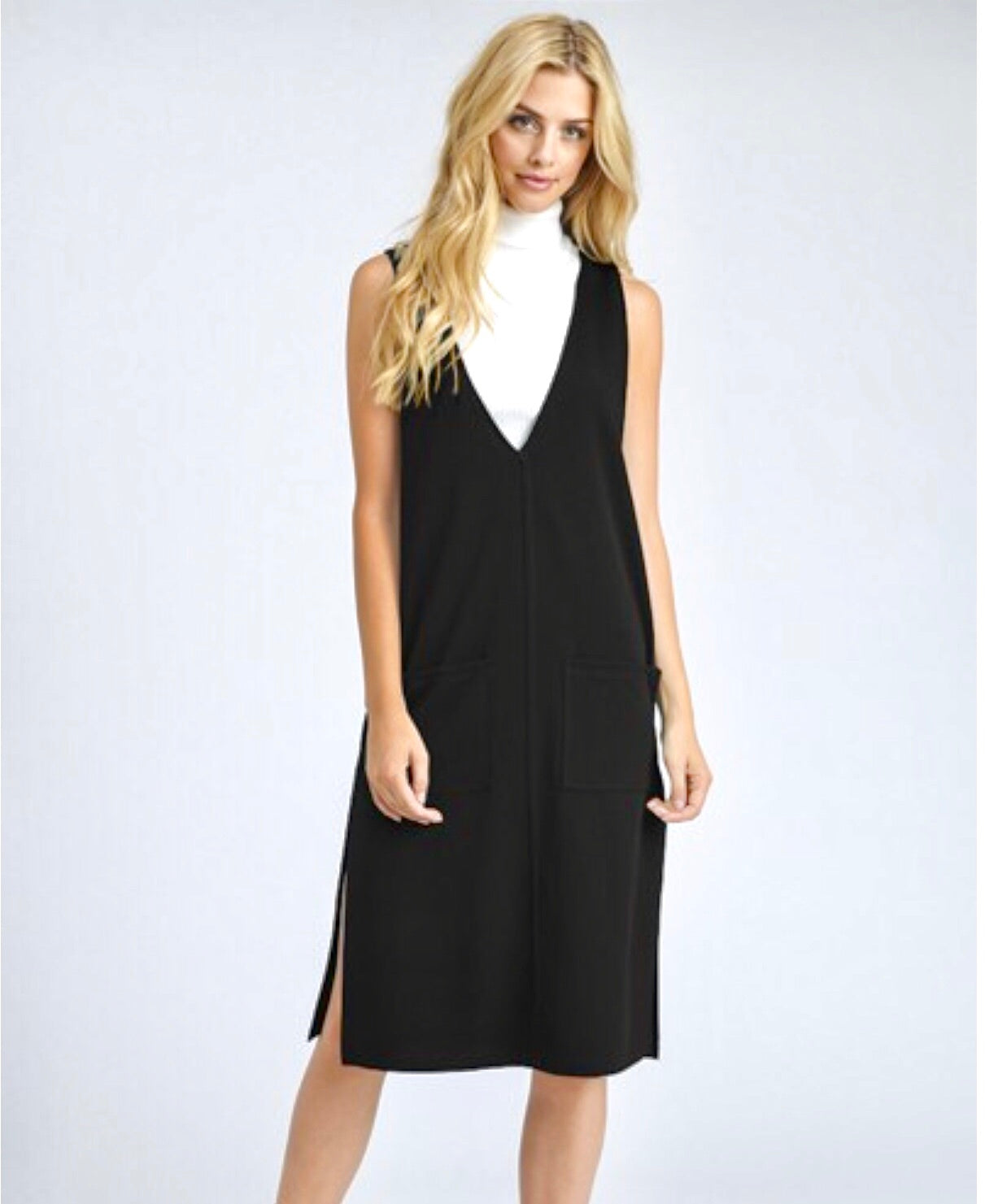 Penelope Midi V-Neck Dress