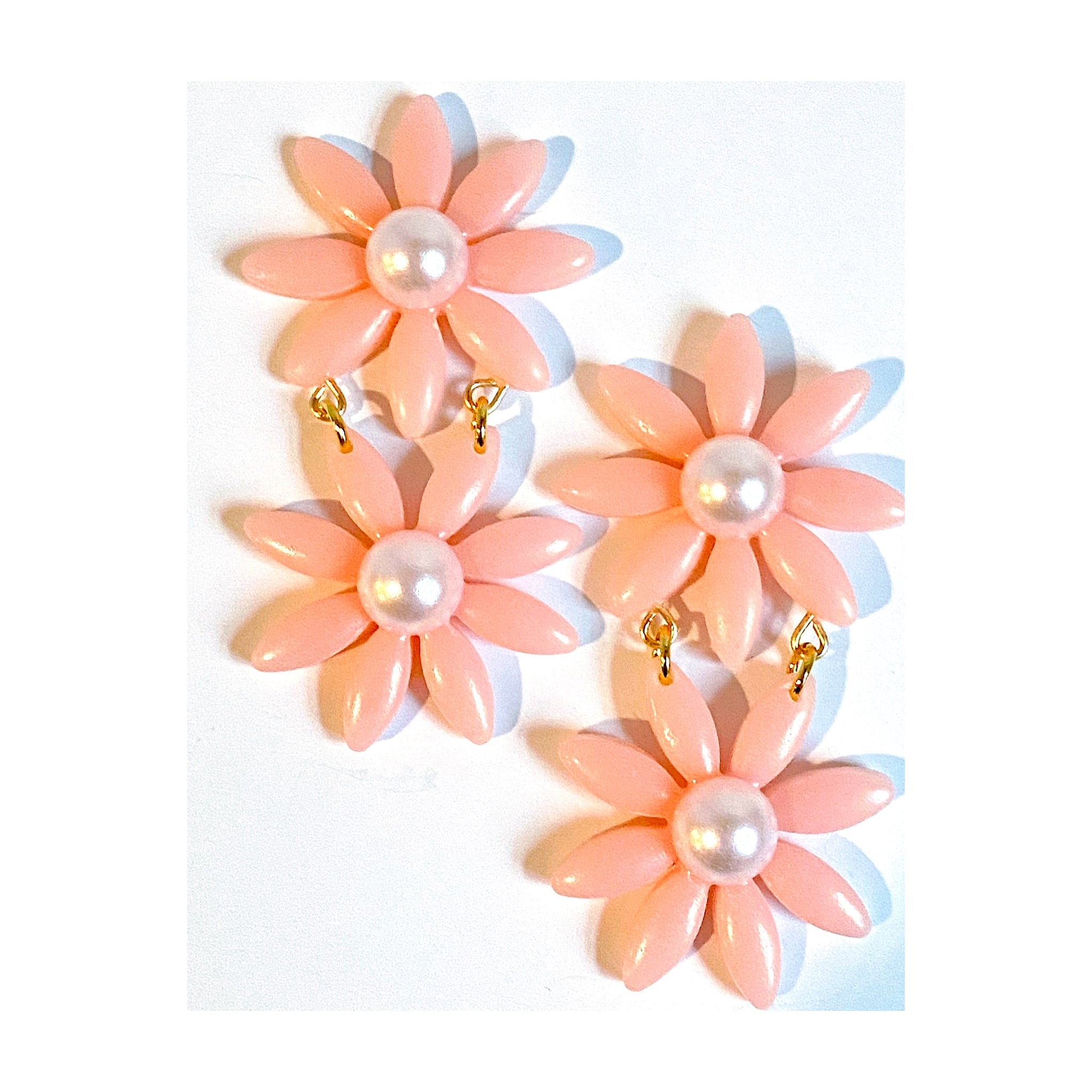 Pink Daisy Dangles