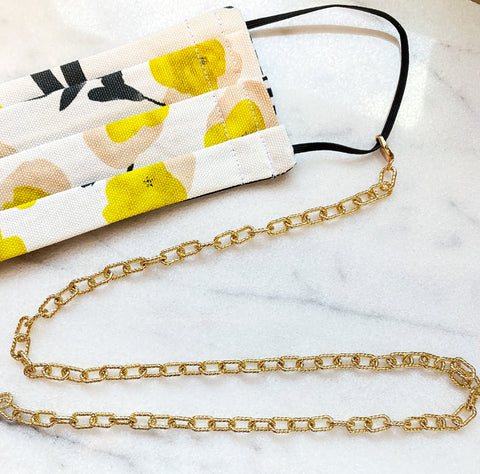 Lauren Sunglass/Mask Chain (Gold-Filled)