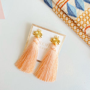 Bee Tassel Earrings
