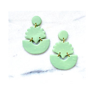Minty Shell Statement Earrings