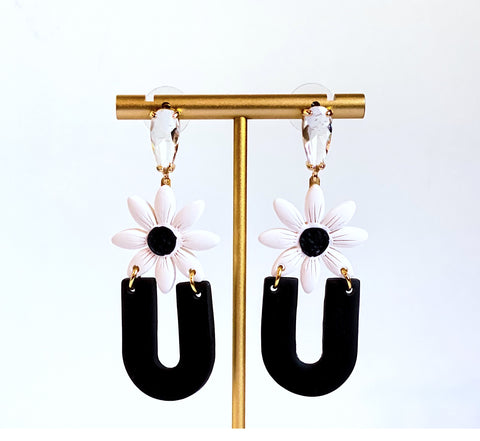 Brooke Daisy Clay Statement Earrings
