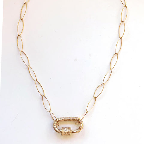 Gabriella Gold Filled Oval Linked Necklace