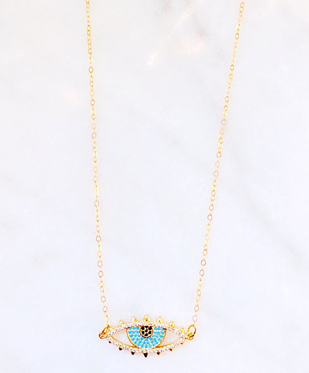 Claire Blue Eye Gold Filled Necklace
