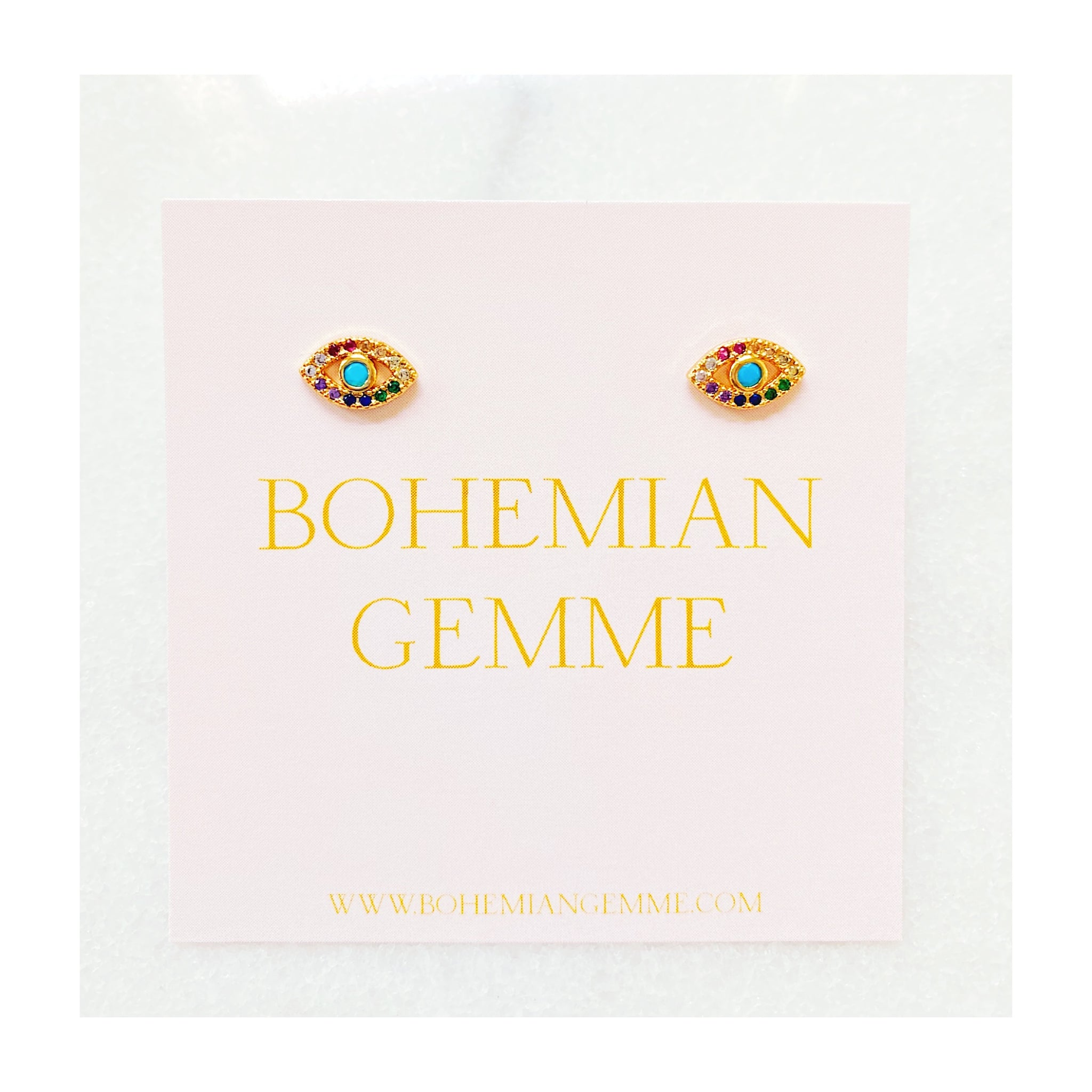 Mini Colorful Eye Studs