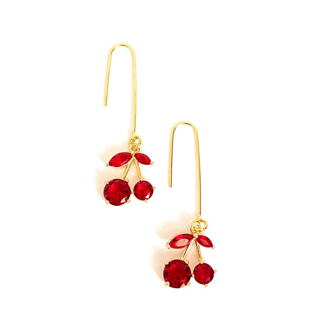 Lina Cherry Drop Earrings