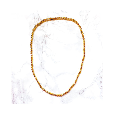 Carrie Gold Beaded Necklace