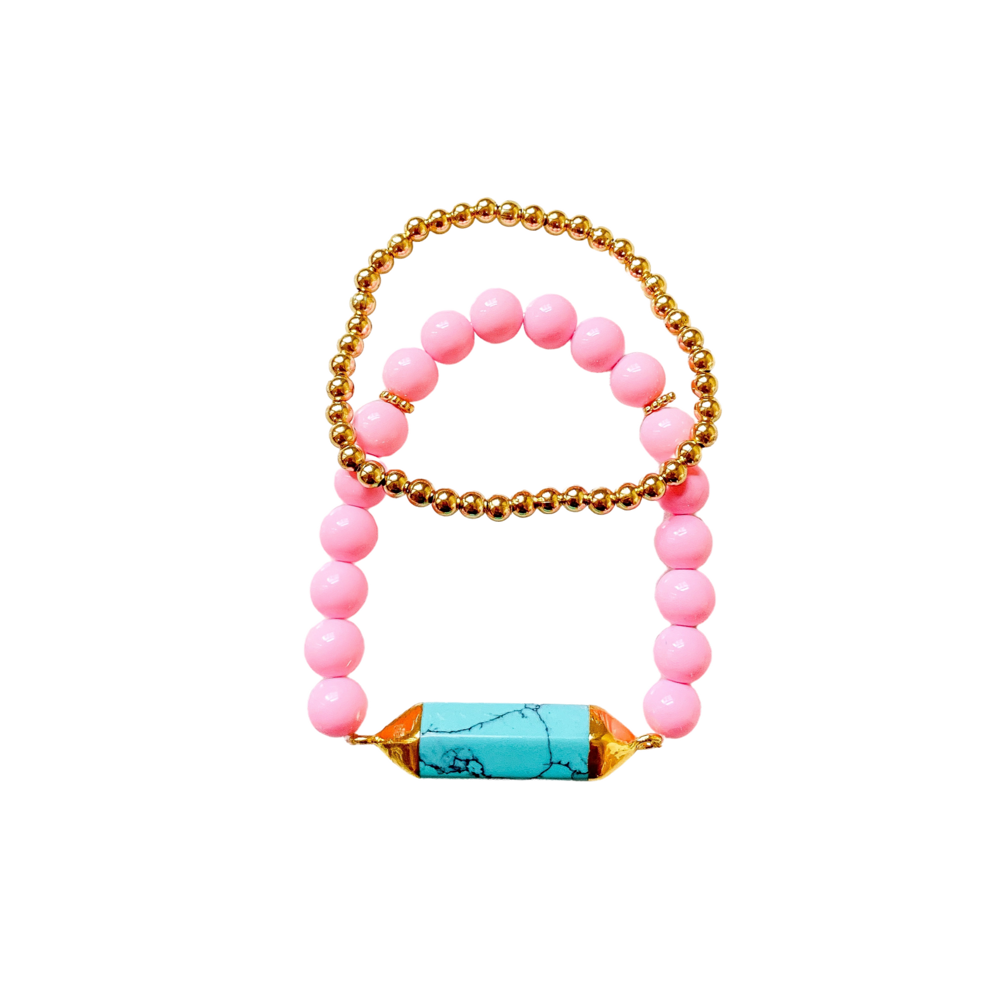 Carrie Turquoise Beaded Bracelet Set