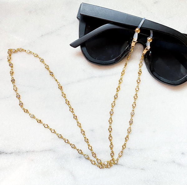 Margo Gold Filled Fave Mask/ Sunglass Holder Chain