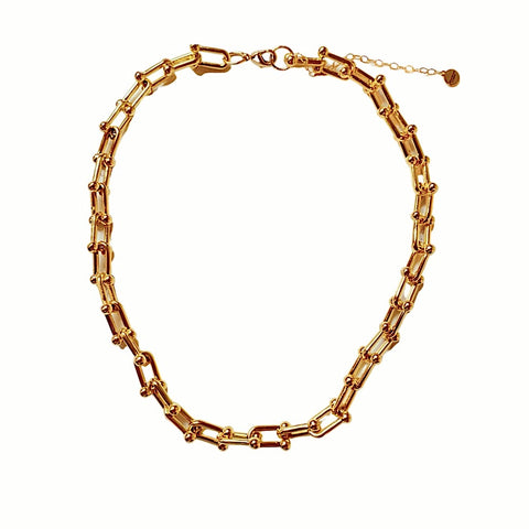 Sarah Chunky Necklace (Gold-Filled)