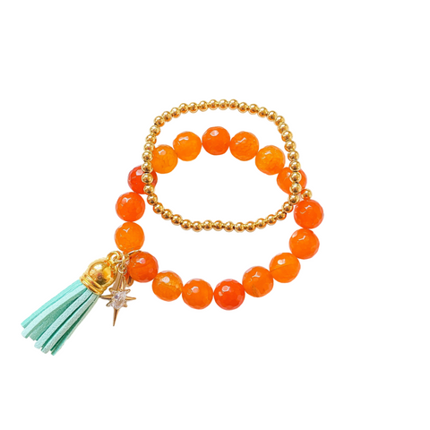 Agate Beaded Bracelet Set