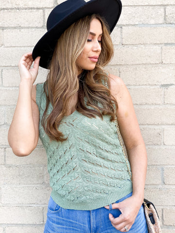 Myra Sage Knit Top