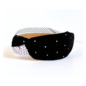 Amelia Two Tone Polka Dot Headband