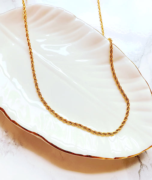 Nichole  Gold Filled Rope Chain