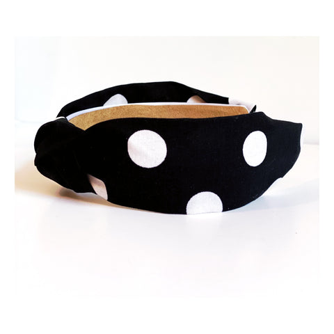Voila Black Polka Dot Headband