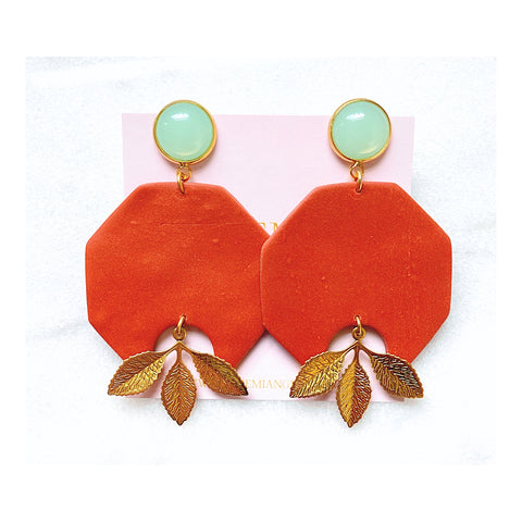 Isabella Clay Statement Earrings