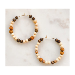 Dylan Beaded Hoops