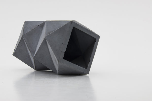 Bluestone Double Tier Geometric Planter - Conform Studios