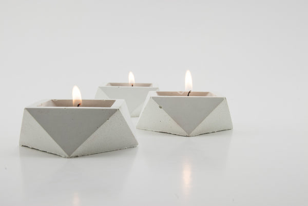 White Candle Holder (Set of 3) - Conform Studios