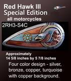 Motorcycle Accessories - Red Hawk III Special Edition Motorcycle Gas Tank Emblems