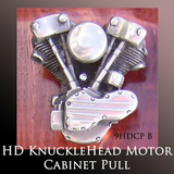 Harley Ornaments Motorcycle Gift - Knuckle Head Motor Cabinet Pull