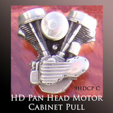 Harley Ornaments Motorcycle Gift - Pan Head Motor Cabinet Pull