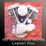 Harley Ornaments Motorcycle Gift - Shovel Head Motor Cabinet Pull
