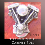 Harley Davidson Motorcycle Accessories Unique Motorcycle Gift - Cone Head Motor Cabinet Pull