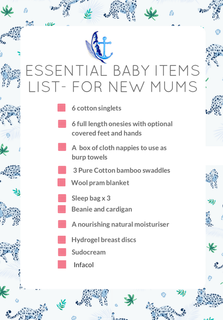 Essentials list for new mums in winter.