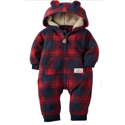 Red and Black Tartan Bear Suit