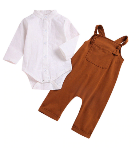 Boys 2 piece Romper outfit