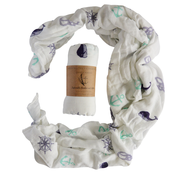 """ Nautical days"" Baby Swaddle"