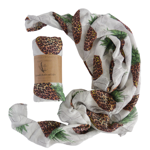 """Fruits In The Wild"" Baby Swaddle"