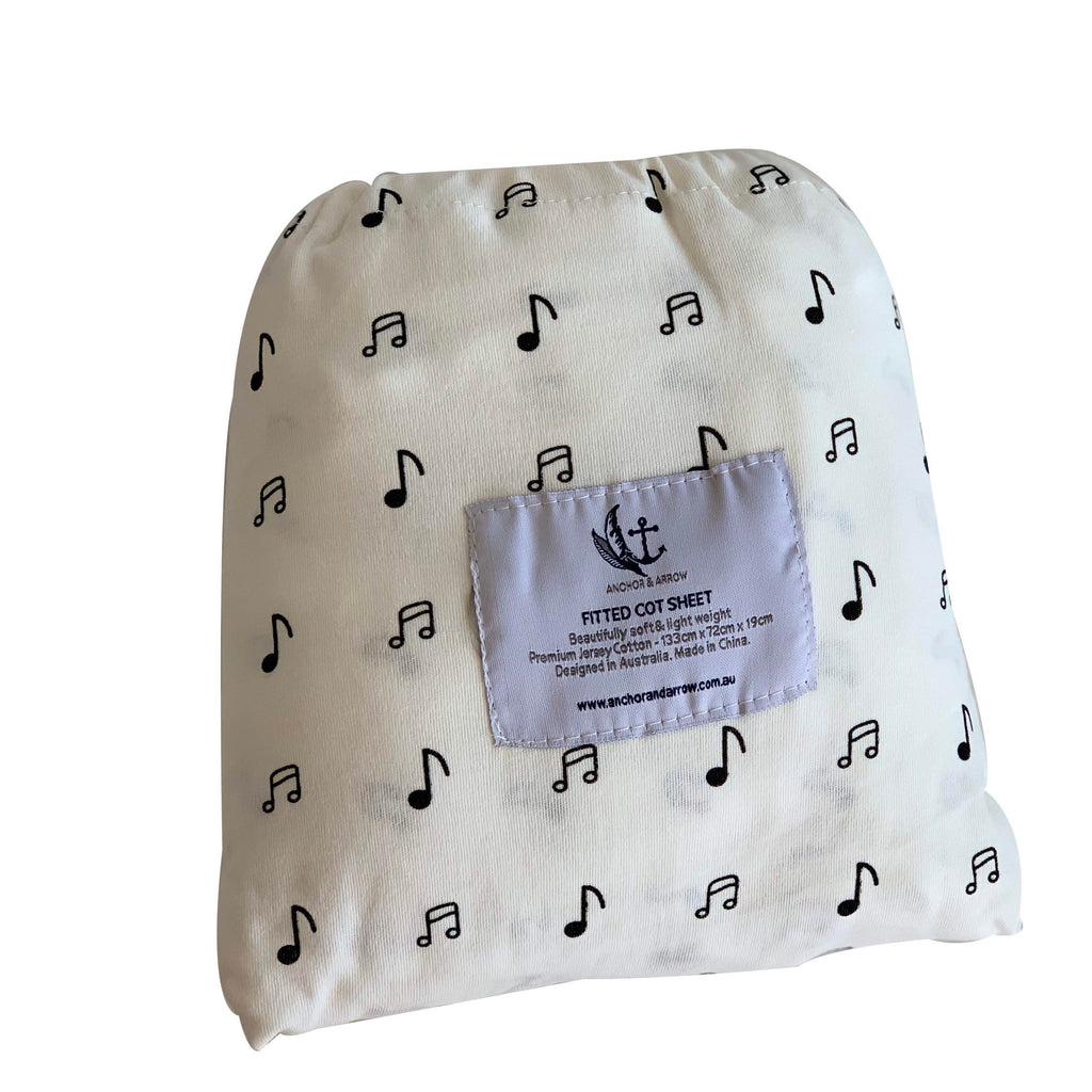 Music note Cot Sheets