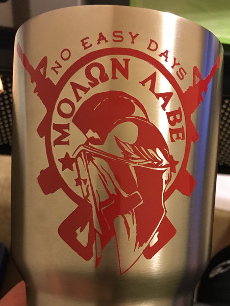 Molon Labe Decal - No Easy Days Apparel