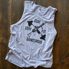 Stay Fit Stay Dangerous Tank - No Easy Days Apparel