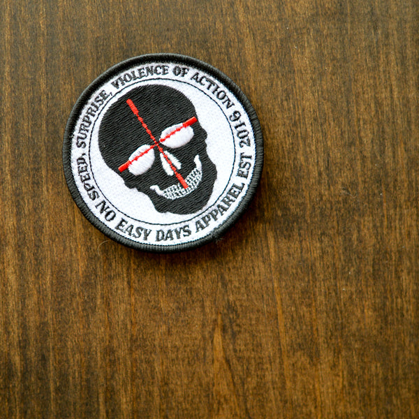 Speed, Surprise, Violence of Action Patch - No Easy Days Apparel