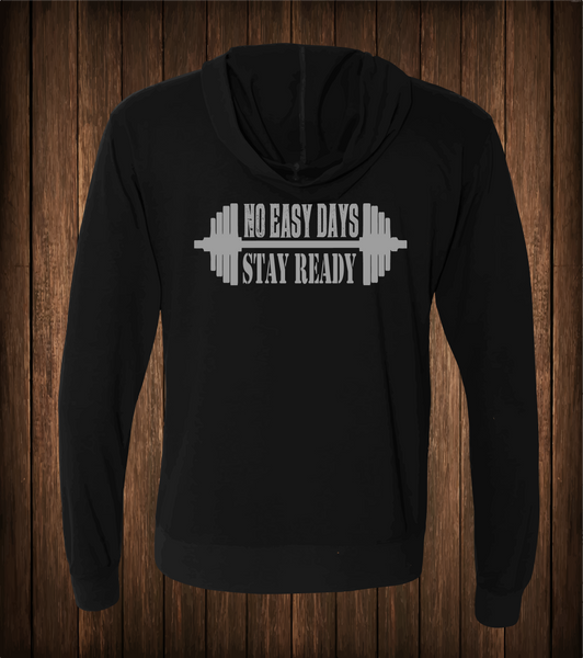Stay Ready Sueded Full Zip Hoodie - No Easy Days Apparel