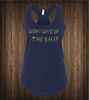 Women's Don't Give Up The Ship Tank - No Easy Days Apparel